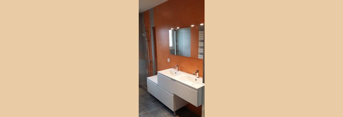 Création d'une salle de bain.
