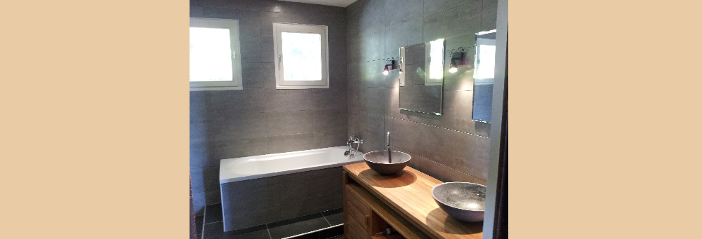 Rénovation totale d'une salle de bain.